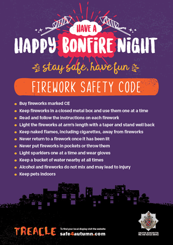 Firework safety code poster